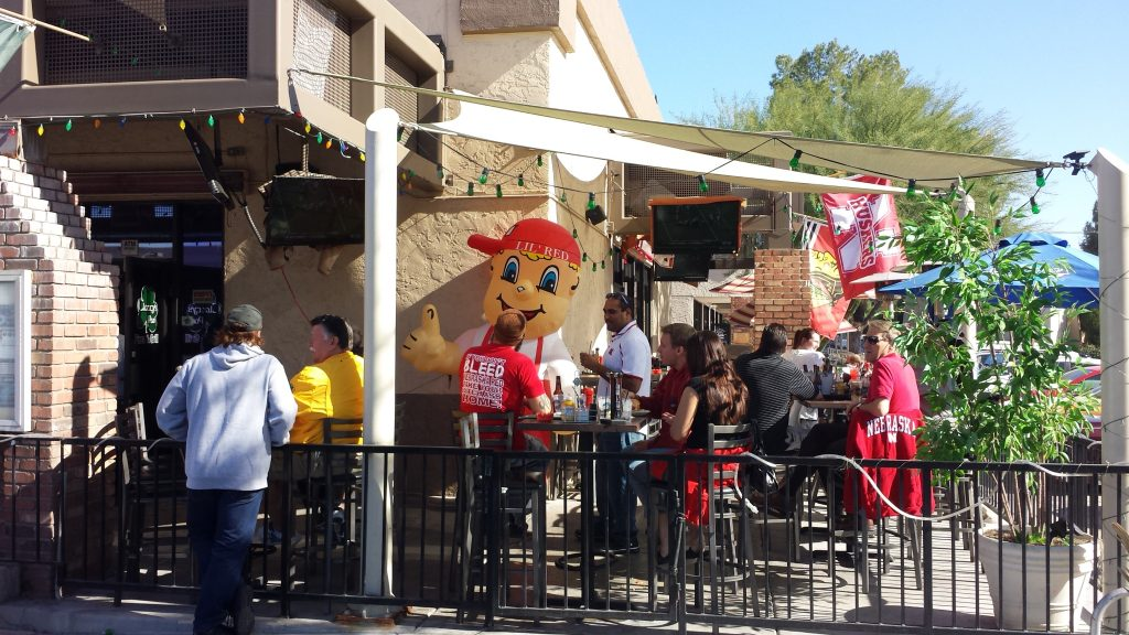 photo Outside Clancy's on Game Day